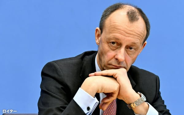 独与党CDUのメルツ氏は新型コロナの検査で陽性だったと明らかにした=ロイター