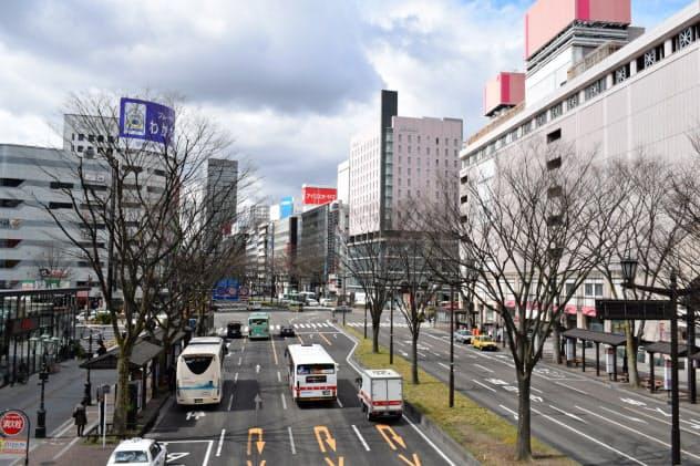 仙台市の商業地は2年連続で2桁の伸びだった