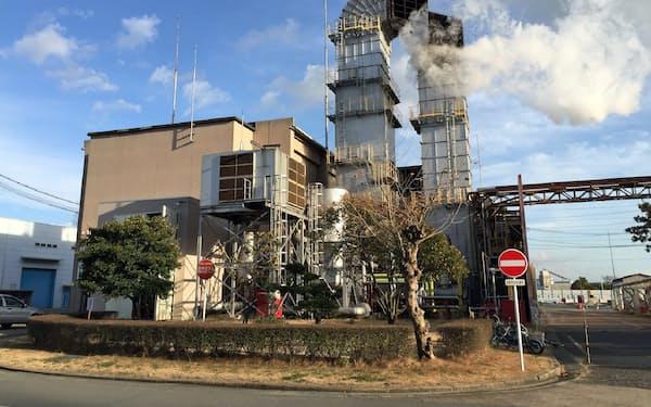 三菱日立パワーシステムズの高砂工場(兵庫県高砂市)内にある水素混合燃焼の火力試験設備