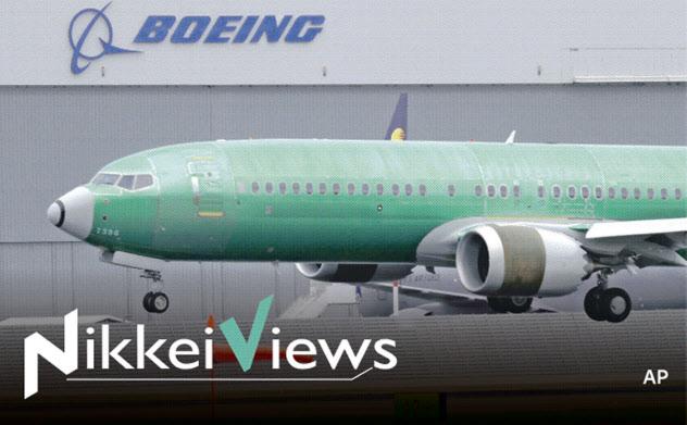 墜落事故で運行停止となったボーイングの「737MAX」=AP