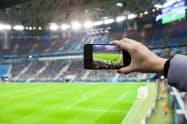 アマテラスの動画配信技術「スワイプビデオ」。スポーツ観戦などに活用する(アマテラス提供)
