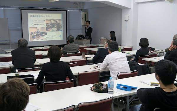 意見交換会では滋賀県の医療計画の見直しに向けた動きなどが報告された(2019年12月、東京都中央区)