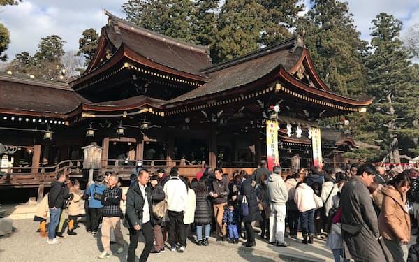 神社への参拝が盛んだった(滋賀県多賀町の多賀大社)
