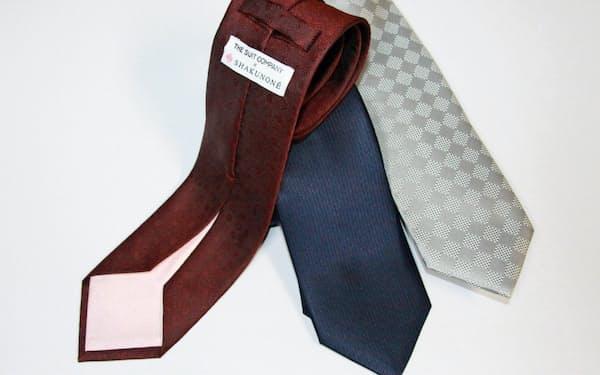 笏本縫製のザ・スーツカンパニー向けネクタイは大剣の裏側のデザインに工夫を凝らした