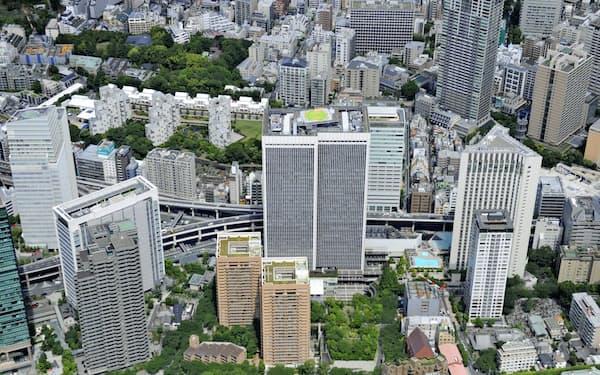 1986年に開業したアークヒルズは東京の新しい都市開発のモデルとなった(東京都港区)