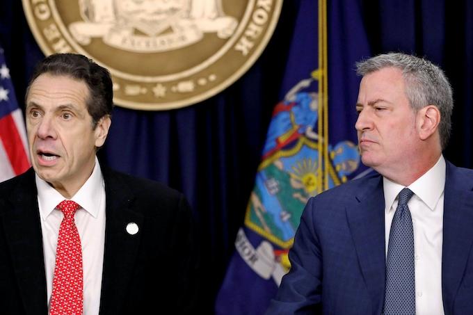 新型コロナ:NY市の外出禁止令巡り、市長と州知事が対立: 日本経済新聞