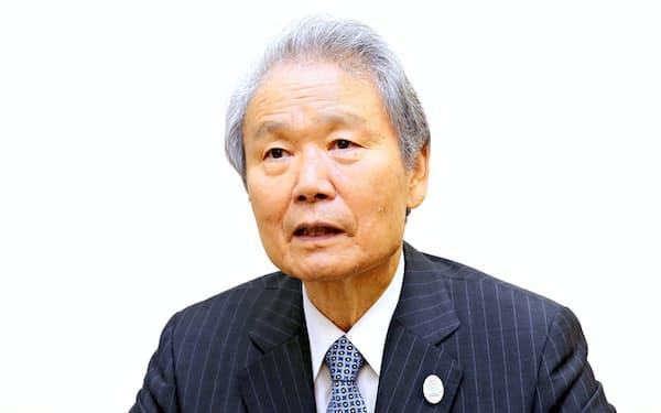 前経団連会長の榊原定征氏