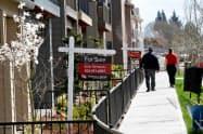 米中古住宅販売は新型コロナ拡大の影響で客足が落ちている(オレゴン州)=ロイター