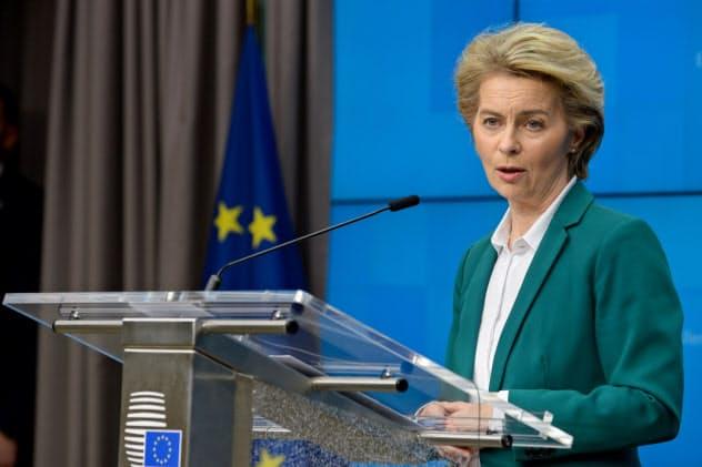EUのフォンデアライエン欧州委員長=ロイター