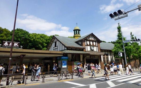 JR原宿駅の旧駅舎(東京・渋谷)=共同