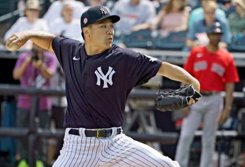 契約最終年の今季、田中は開幕に向けて順調に仕上がっていた=USA TODAY