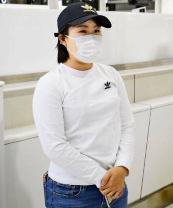 3月上旬、入国制限を恐れて渡米した畑岡は現在、フロリダで練習=共同