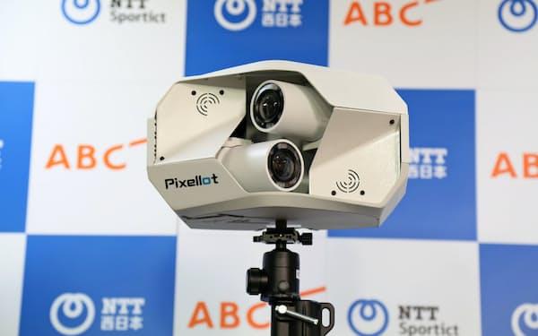 映像の撮影にはピクセロット社のAIカメラを使う