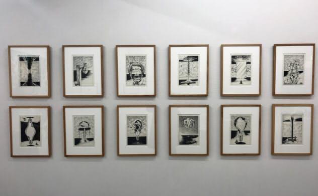 「ネオ・ダダの痕跡」展では、赤瀬川原平の未公開ペン画などが展示されている(東京・銀座のギャラリー58)