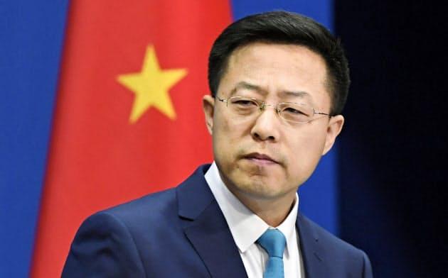 「米軍が感染持ち込みも」とツイッターで主張した中国外務省の趙立堅副報道局長=共同