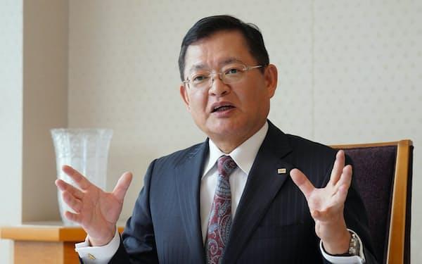 東芝の車谷暢昭・会長兼最高経営責任者(CEO)