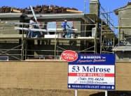 2月の新築一戸建て住宅販売件数は2007年以来の高水準圏となった=ロイター