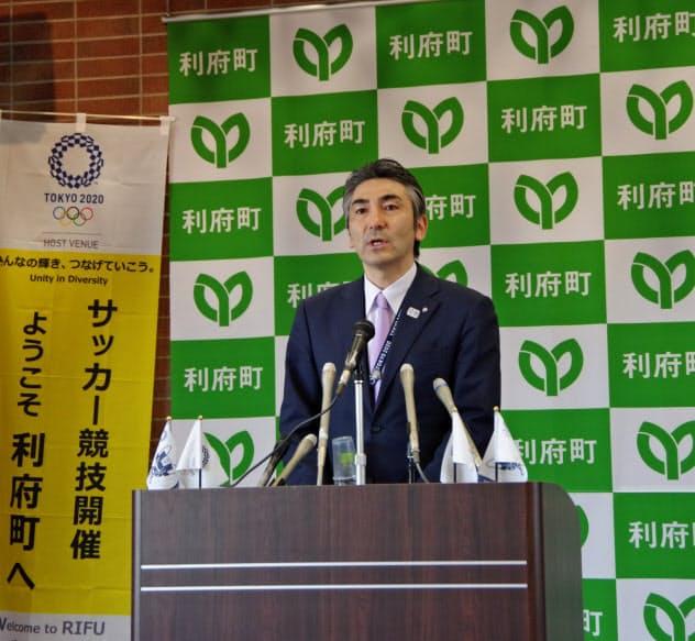 宮城県利府町の熊谷町長は延期に前向きな姿勢を示した
