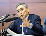 日銀は16日、新型コロナ対応の追加緩和を決めた(記者会見する黒田東彦総裁)