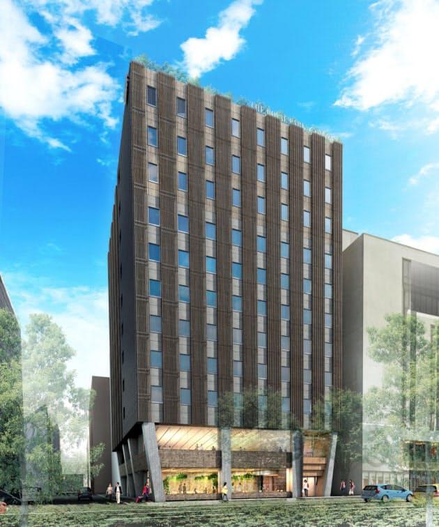 三菱地所がハイブリッド木造ホテル、札幌で開業へ