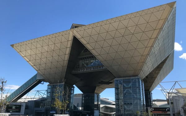 メディア拠点の東京ビッグサイトは来夏の利用を調整中(東京都江東区)