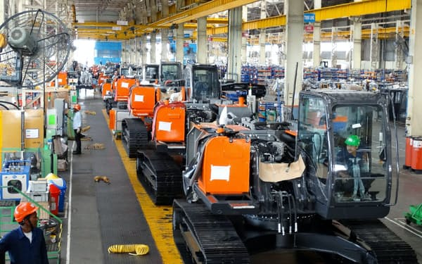 インドは日立建機の注力市場だ(タタ日立の製造ライン)