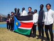 南スーダンの選手団は2019年11月から合宿を続けている(26日、前橋市)
