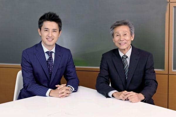 草刈貴弘氏(左、写真:竹井俊晴)