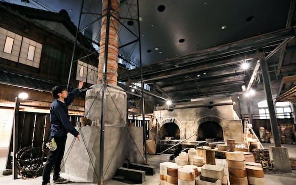 博物館では忠実に再現した昭和期の工場が見学できる(愛知県瀬戸市)