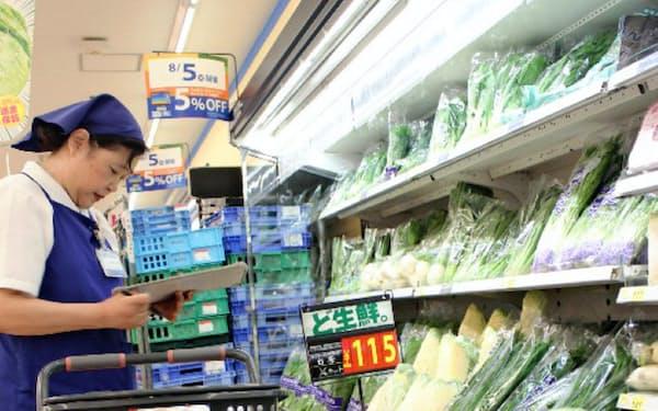 店舗の商品を配送するネットスーパーで、受注停止の影響が出始めた