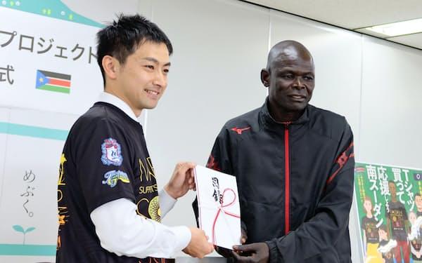 南スーダン選手団への支援が広がっている(前橋市)