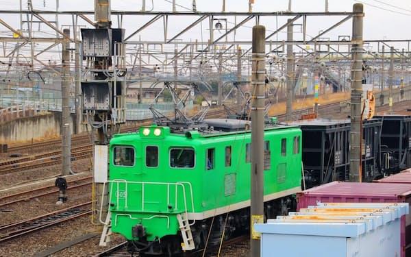 廃止となる区間は主に石炭輸送に使われていた(熊谷貨物ターミナル駅の構内)
