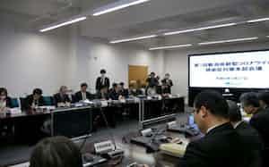 27日に県庁で開催した「新型コロナウイルス感染症対策本部会議」
