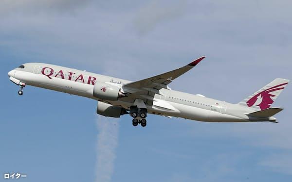 カタール航空は帰国チャーター便の運航にも力を入れるとしている=ロイター