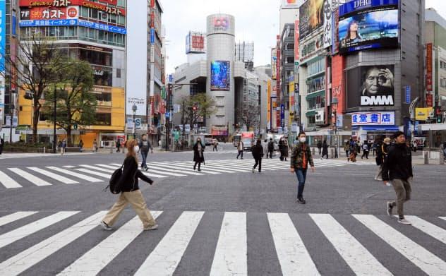 首都厳戒ムード、渋谷も銀座も人影少なく 週末初日