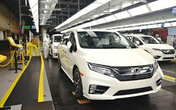 北米でホンダは米アラバマ州など7つの完成車工場の生産を停止している