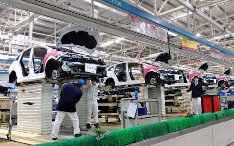 日系メーカー各社は中国での生産台数を大きく落とした(ホンダの中国の武漢工場)