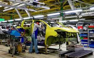「シエンタ」の「低床フラット」は「ジャパンタクシー」にも生かされた(宮城県大衡村の宮城大衡工場)