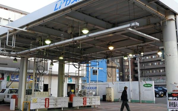 都市ガス参入で顧客1人あたりの収益性を高める(25日、札幌市)