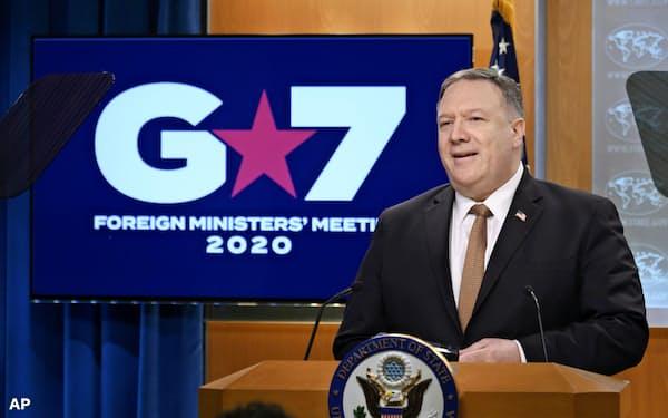 北朝鮮はポンペオ米国務長官の発言に反発した(25日、ワシントン)=AP