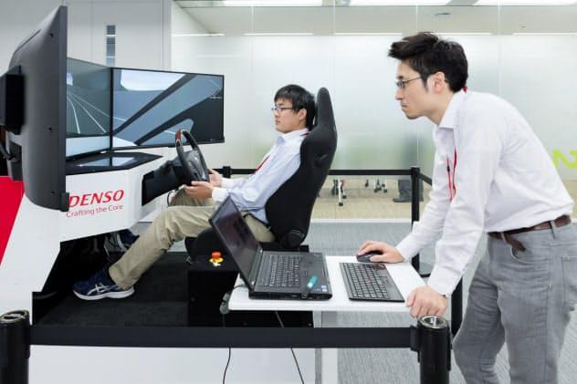 デンソーの自動運転の環境を再現するシミュレーション機器(東京・港)