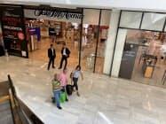 メキシコシティのショッピングセンターは閑散としている(29日)