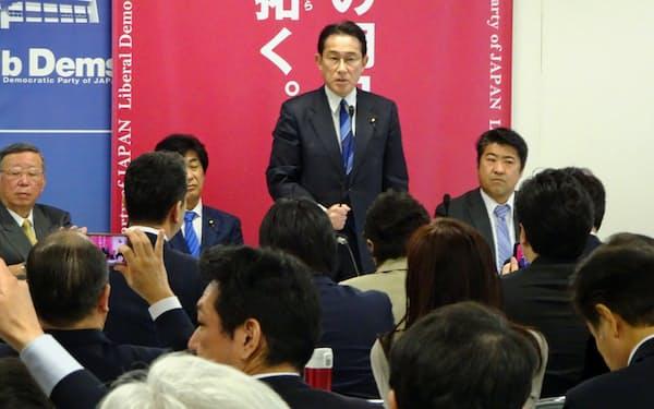 自民党新型コロナ対策本部(3月30日、党本部)