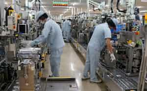 安城製作所ではインバーターを生産(愛知県安城市)