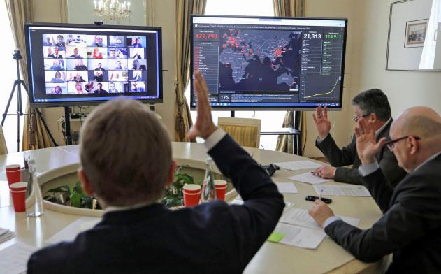 ビデオ会議システム大手のズームの時価総額は420億ドルにのぼる=ロイター