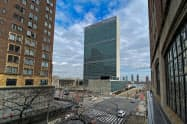 ニューヨークの国連ビル(3月17日)=ロイター
