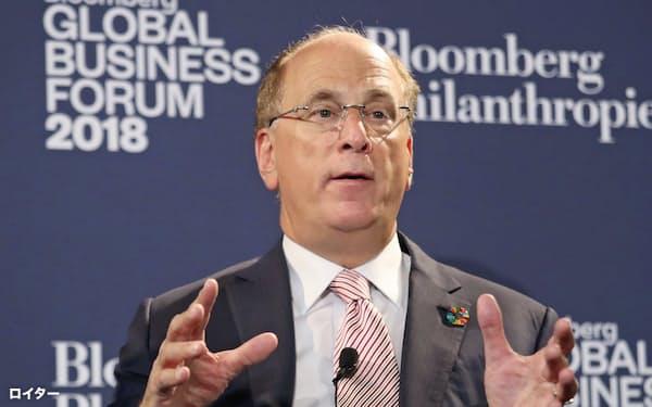 世界最大の資産運用会社、米ブラックロックのラリー・フィンクCEOは、FRBから委託された社債の購入などにあたり、いかに透明性を確保するかが問われている=ロイター
