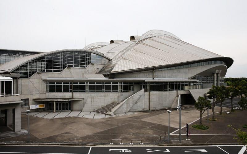東京大会の競技会場は幕張メッセなど都内外に43カ所ある(写真は千葉市の幕張メッセ)