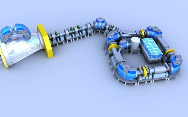 病院の地下などにも設置できる量子メスのイメージ(量研機構提供)