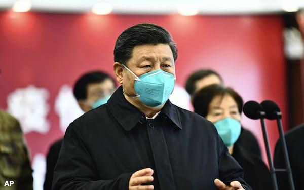 中国の習政権は「マスク外交」を展開する=AP